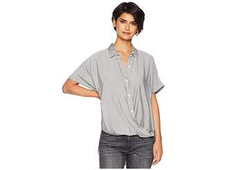 BCBGeneration Wrap Hem Dolman Sleeve Shirt Women's Clothing