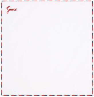 Gucci script pocket square