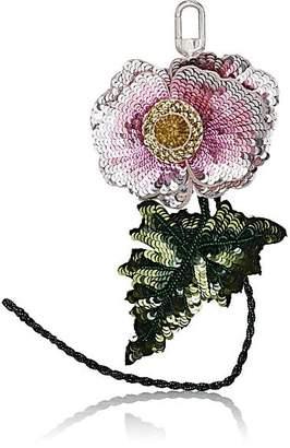 Altuzarra Women's Sequined Flower Bag Charm - Pink