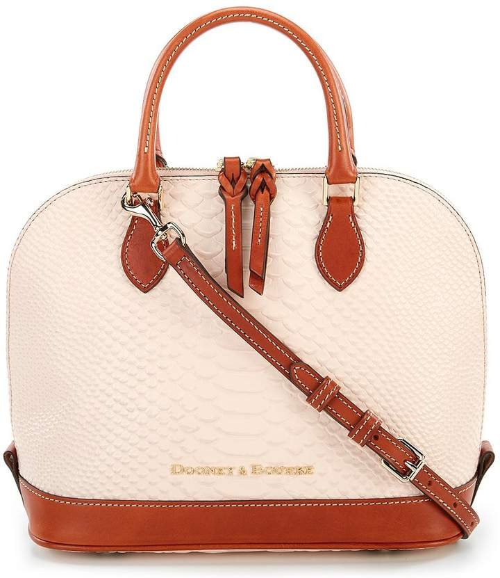 Dooney & Bourke Caldwell Collection Zip Zip Satchel - BLUSH - STYLE