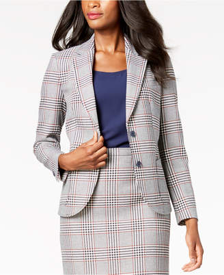 Anne Klein Plaid Two-Button Jacket, Created for Macy's