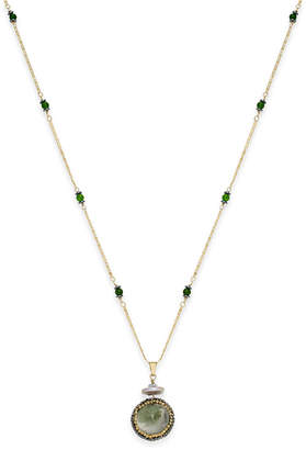 Paul & Pitu Naturally 14k Gold-Plated Multi-Stone Pendant Necklace