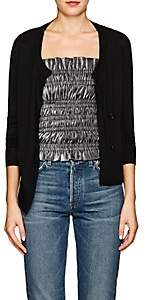 Barneys New York Women's Merino Wool Asymmetric Cardigan - Black