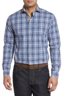 johnnie-O Highlands Classic Fit Plaid Sport Shirt