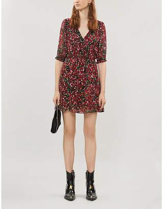 The Kooples Floral-pattern chiffon dress