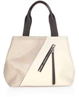 Elena Ghisellini Colorblock Leather Tote