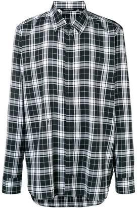 Neil Barrett plaid casual shirt