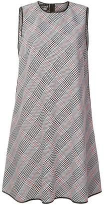 Moschino sleeveless plaid flared dress