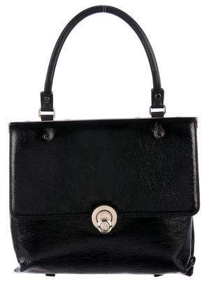 Lanvin Patent Leather Flap Bag
