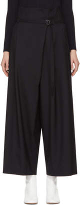 Enfold Navy Wide Belt Trousers
