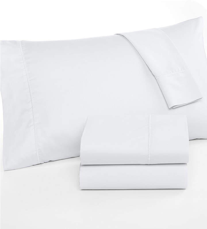 Martha Stewart Collection Full Open Stock Flat Sheet, 300 Thread Count 100% Cotton, Created for Macy's Bedding