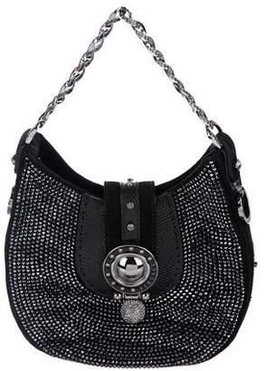 Versace Embellished Suede Handle Bag