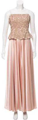 Carmen Marc Valvo Embellished Evening Gown