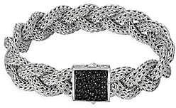 John Hardy Women's Classic Chain Black Sapphire & Sterling Silver Medium Braided Bracelet