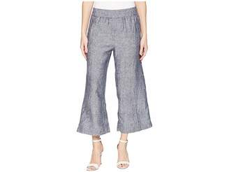 Elliott Lauren Elastic Waist Linen Crop Pants Women's Casual Pants