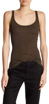 Vince Striped Scoop Neck Tank