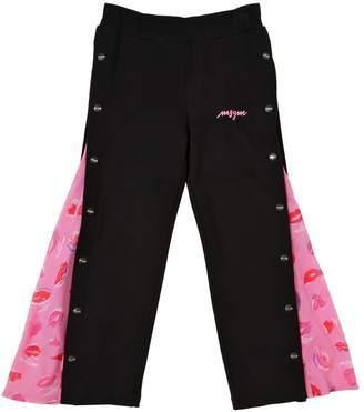 MSGM Cotton Sweatpants W/ Tulle Details