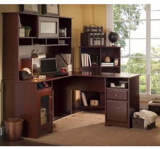 Hillsdale Red Barrel Studio 3 Piece L-Shaped Desk Set with Hutch & Bookcase