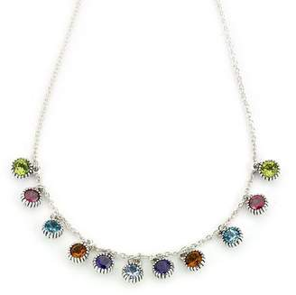 Samuel B Jewelry Sterling Silver Round Multi-Gemstone Necklace