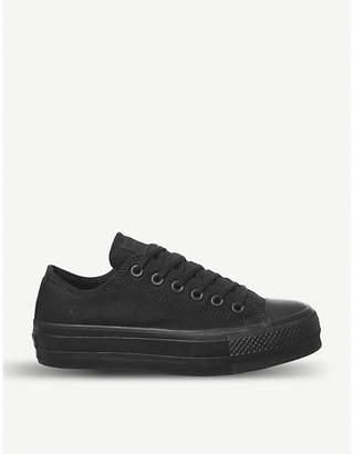 Converse Low Platform leather trainers