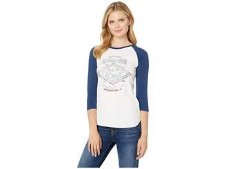 Rock and Roll Cowgirl 3/4 Sleeve Graphic Tee 48T9359