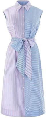 Diane von Furstenberg Sleeveless Striped Shirt Dress