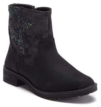 Good Choice New York Marney Star Detail Faux Suede Short Bootie