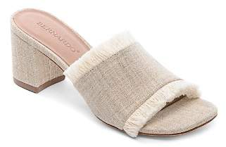 Bernardo Women's Blaire Frayed Block Heel Slide Sandals