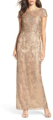 Adrianna Papell Popover Gown