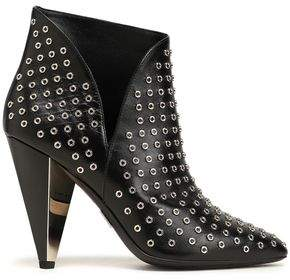 Michael Kors Eyelet-embellished Leather Ankle Boots