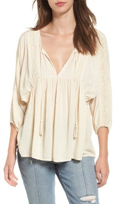 Women's Billabong Gold Dust Embroidered Top $59.95 thestylecure.com