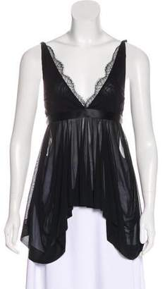 Antonio Berardi Sleeveless Asymmetrical Top