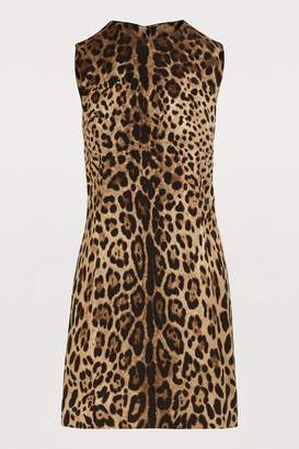 Dolce & Gabbana Short stretch leopard print dress
