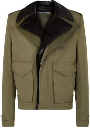 Givenchy Leather Collared Military Jacket