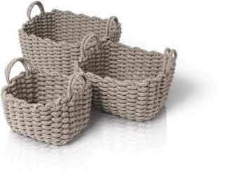 "Blomus Crochet Baskets ""Corda"" (Set of 3)"