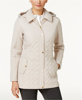 Jones New York Hooded Quilted Coat $150 thestylecure.com