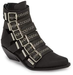 Jeffrey Campbell Disturbed Moto Buckle Bootie