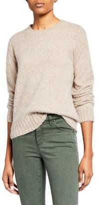 Helmut Lang Brushed Wool-Alpaca Crewneck Pullover Sweater