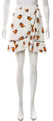Ganni Floral Print Mini Skirt w/ Tags