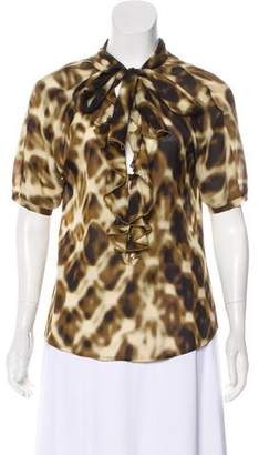 Just Cavalli Printed Silk Top