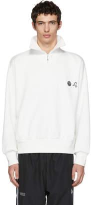 Gosha Rubchinskiy White Zip Collar Sweatshirt