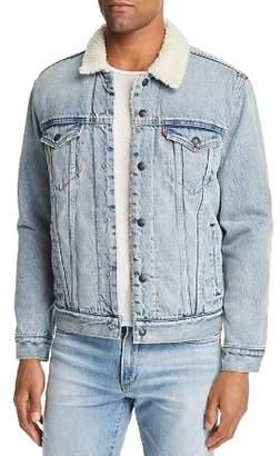 Levi's Faux Shearling-Lined Denim Trucker Jacket