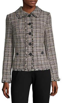 Karl Lagerfeld PARIS Tweed Long-Sleeve Jacket