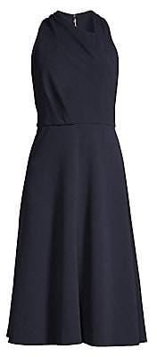 Donna Karan Women's Twist Neck Fit-&-Flare Dress