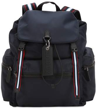 Bally Nylon Backpack W/ Stripes Details