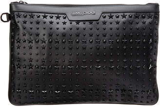 Jimmy Choo Derek Star-Embellished Leather Document Holder