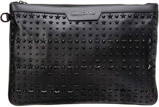 Jimmy Choo Derek Star-Embellished Leather Document Holder