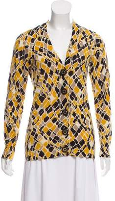 Tory Burch Wool Patterned Cardigan