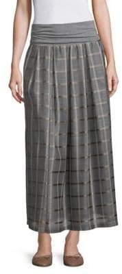 Peserico Organza Check-Print Maxi Skirt