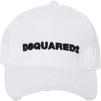 DSQUARED2 Logo Embroidered Gabardine Baseball Hat